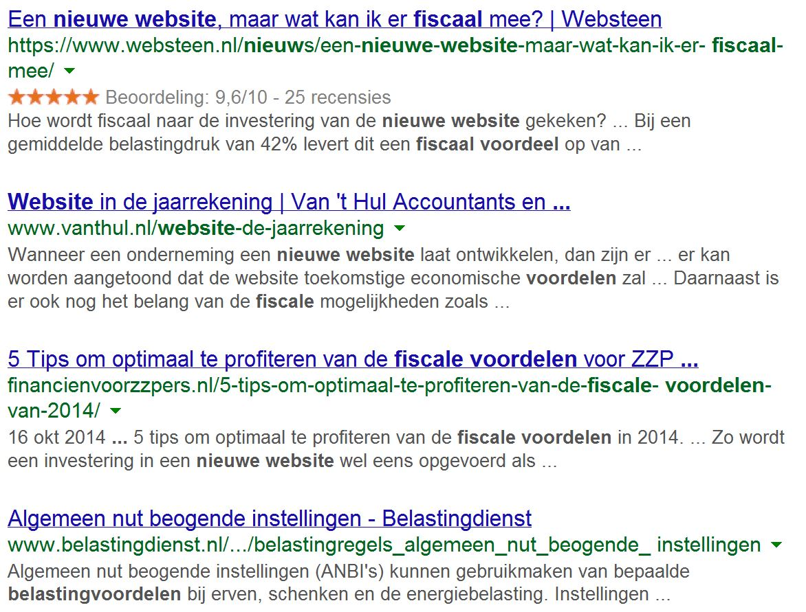 Rich Snippets Websteen